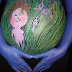 Боди-арт и беременность, или особое искусство