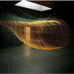 Паутины-инсталляции от Шона МакГинниса