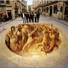 Курт Веннер и его трехмерные меловые иллюзии
