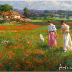 Gregory Frank Harris о женщинах на фоне пейзажей