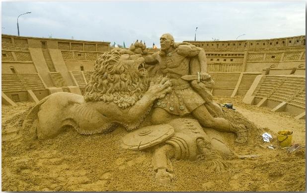 Песочные скульптуры 5-кратного чемпиона мира Павла Мыльникова