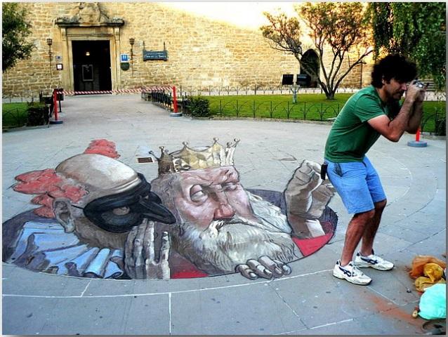 Эдгар Мюллер и его трёхмерный стрит-арт