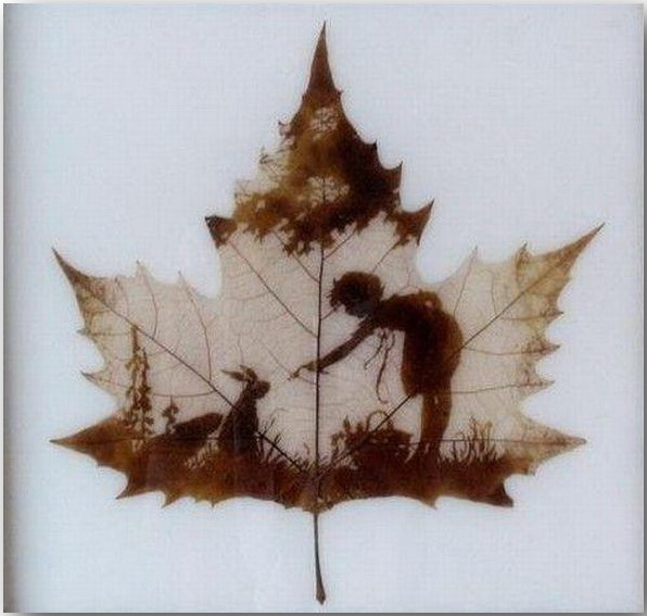 Резьба по листьям (Leaf Carving Art)_05