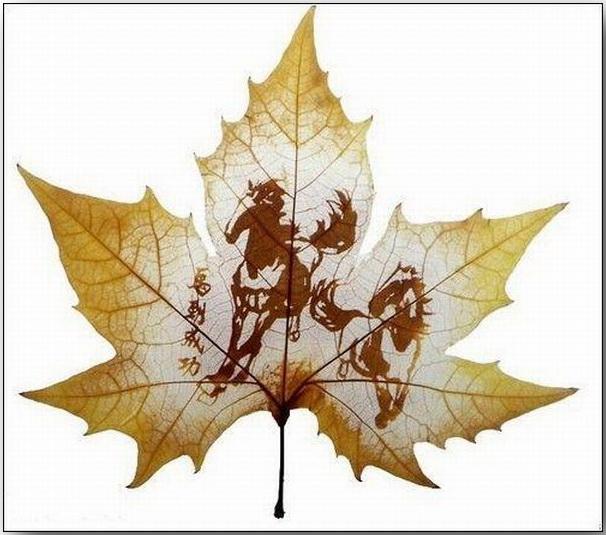 Резьба по листьям (Leaf Carving Art)_12