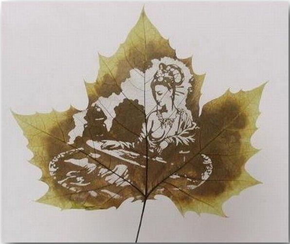 Резьба по листьям (Leaf Carving Art)_14