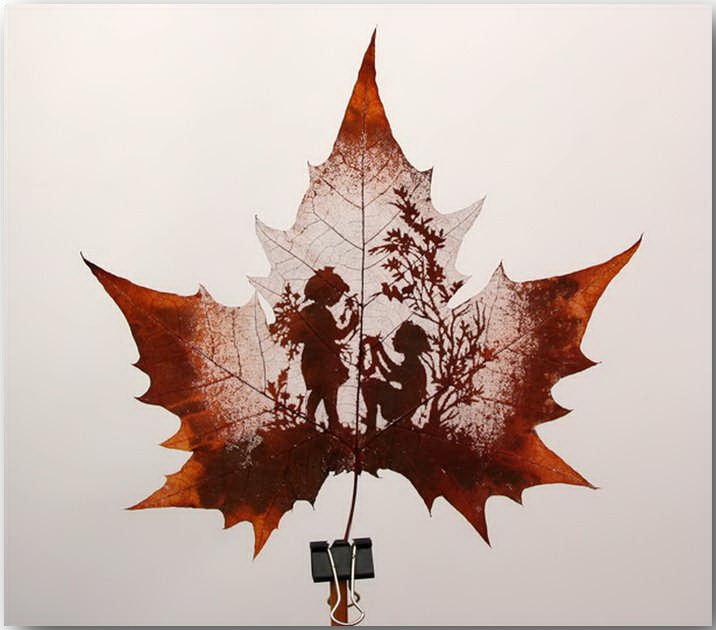 Резьба по листьям (Leaf Carving Art)_16