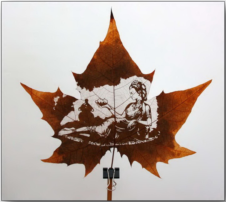 Резьба по листьям (Leaf Carving Art)_17