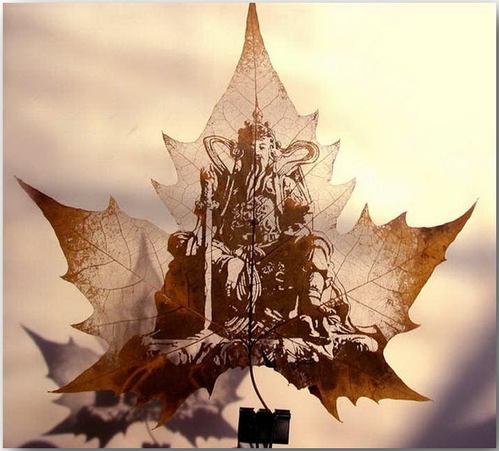 Резьба по листьям (Leaf Carving Art)_20