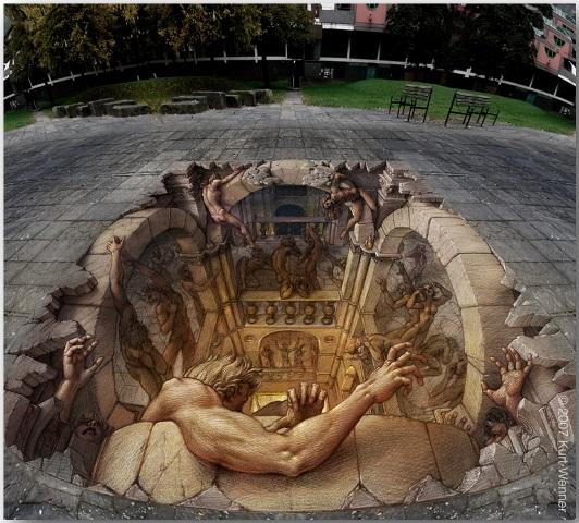 Курт Веннер (Kurt Wenner)_street-art_06