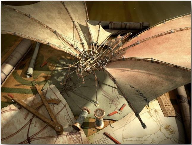 Balazs Papay_Da Vinci's butterfly_art_12