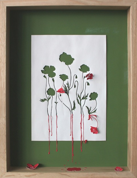 Питер Калессен (Peter Callesen)_red-running-poppies-ii_art_22