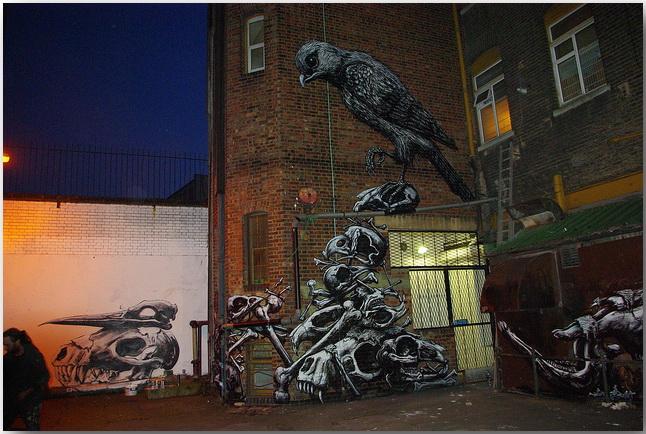 Дикие животные уличного художника Роа (Roa)_street-art_02
