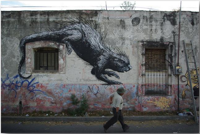 Дикие животные уличного художника Роа (Roa)_street-art_07