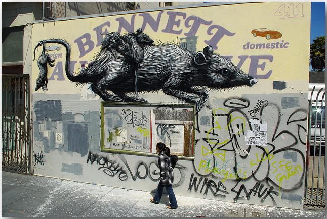 Дикие животные уличного художника Роа (Roa)_street-art_09