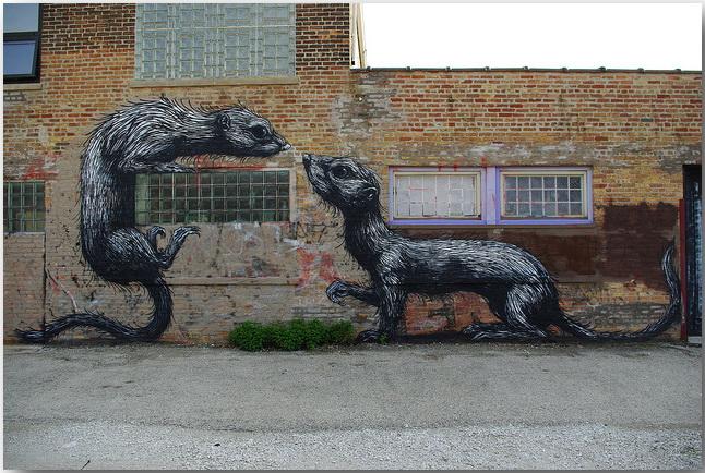 Дикие животные уличного художника Роа (Roa)_street-art_19