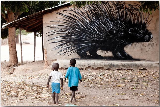 Дикие животные уличного художника Роа (Roa)_street-art_21