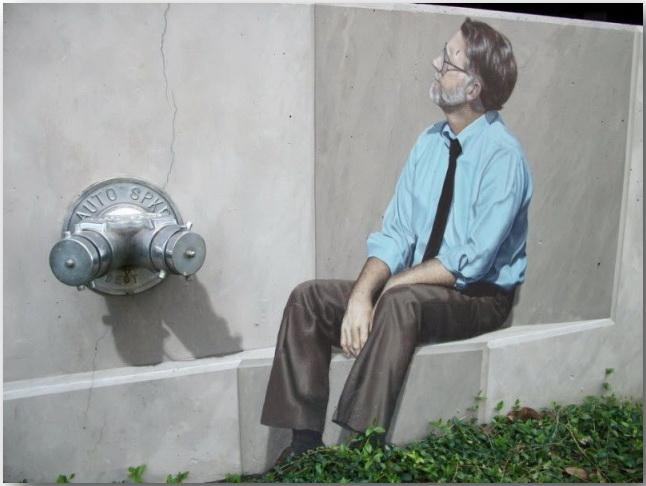 Джон Пью (John Pugh)_Street-art_Миражи на улицах мегаполисов_16