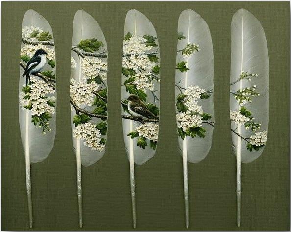 Ян Дэйви (Ian Davie)_Живопись на лебединых перьях_art_05