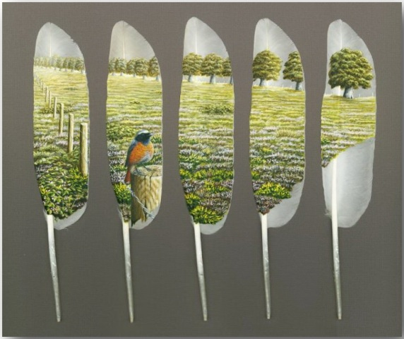 Ян Дэйви (Ian Davie)_Живопись на лебединых перьях_art_07