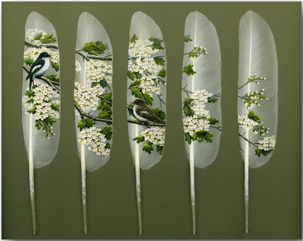 Ян Дэйви (Ian Davie)_Живопись на лебединых перьях_art_08