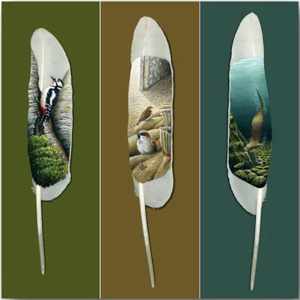 Ян Дэйви (Ian Davie)_Живопись на лебединых перьях_art_12