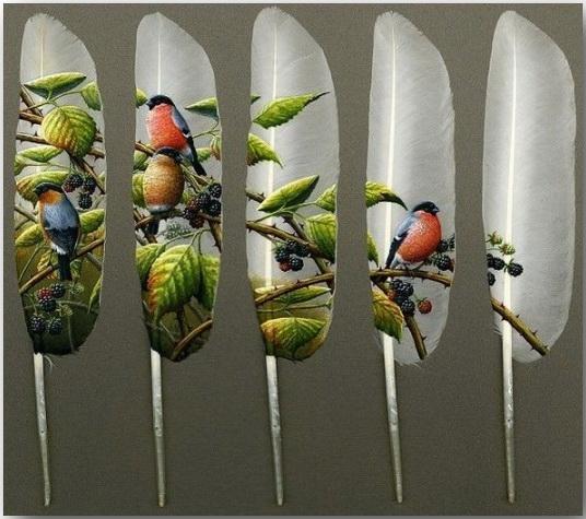 Ян Дэйви (Ian Davie)_Живопись на лебединых перьях_art_14