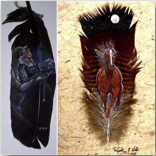 Ян Дэйви (Ian Davie)_Живопись на лебединых перьях_art_18