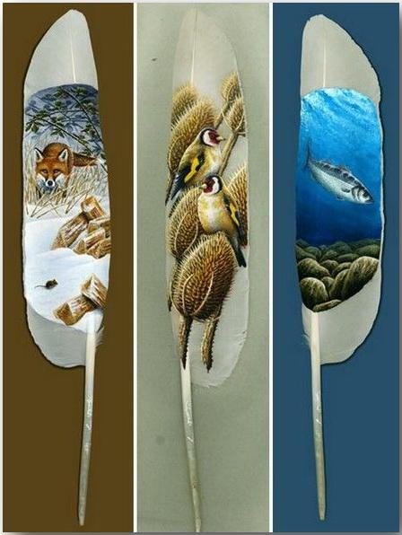 Ян Дэйви (Ian Davie)_Живопись на лебединых перьях_art_21