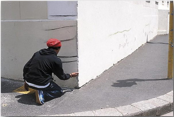 Бегство (Getaway)_Робин Род (Robin Rhode)_Street art_02