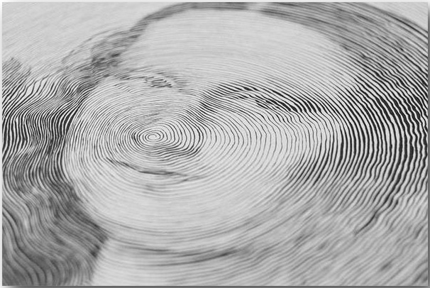 Мона Лиза великого Леонардо Да Винчи_Спиральные иллюстрации Чан Чонг Хви (Chan Hwee Chong)_art_01