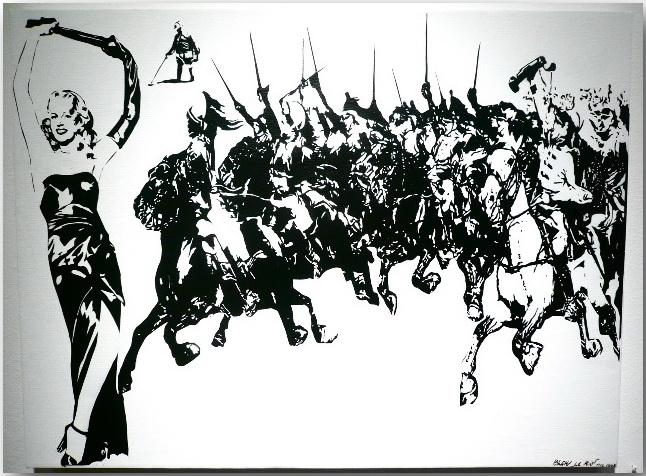 Трафаретное граффити от «BLEK Le RAT»: проход сквозь стены