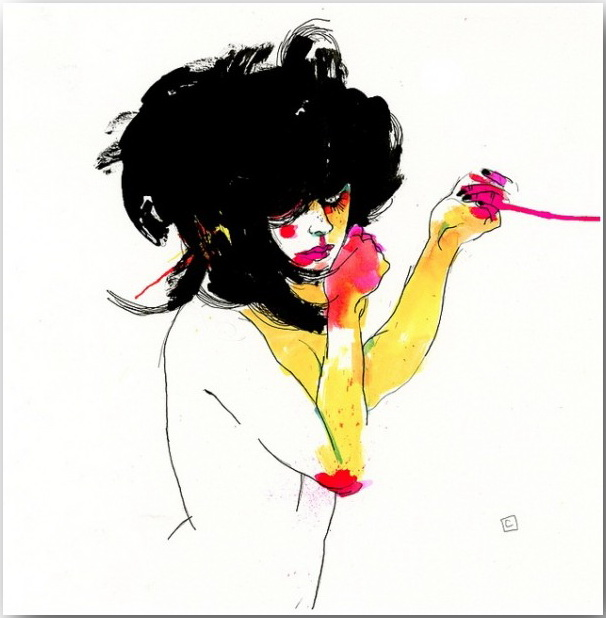 "Серия иллюстраций ""Muse""_Музы Конрада Розета (Conrad Roset)_art_18"