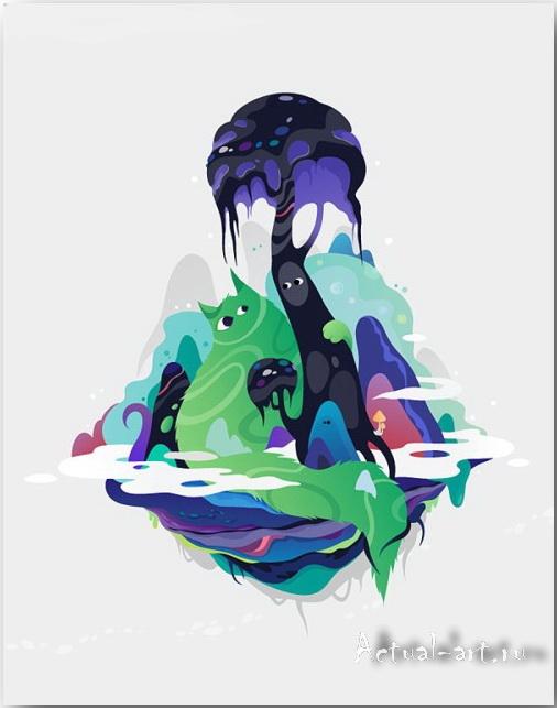 Векторные иллюстрации художницы Zutto_Vector-art_24