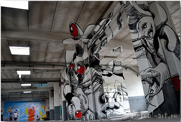 Медуза Гаргона: граффити-иллюзия от студии Truly Design_art_02