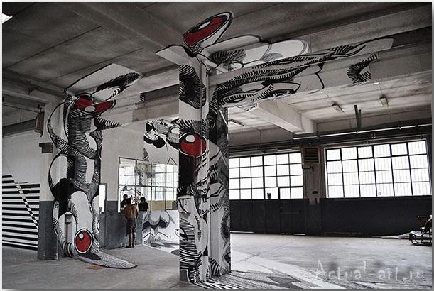 Медуза Гаргона: граффити-иллюзия от студии Truly Design_art_03