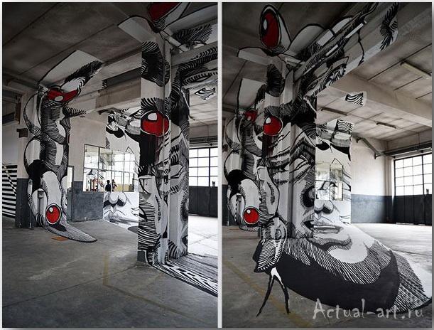 Медуза Гаргона: граффити-иллюзия от студии Truly Design_art_05