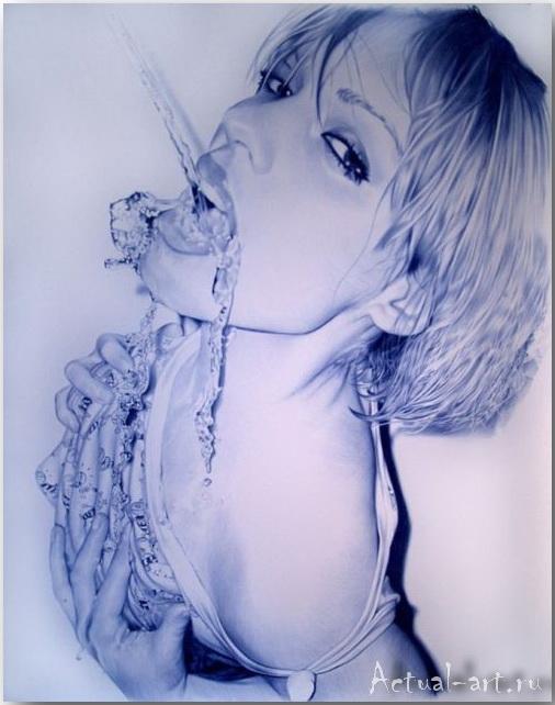 Фото-картины, созданные шариковой ручкой. Арт-работы Хуана Франциско Касаса (Juan Francisco Сasas)