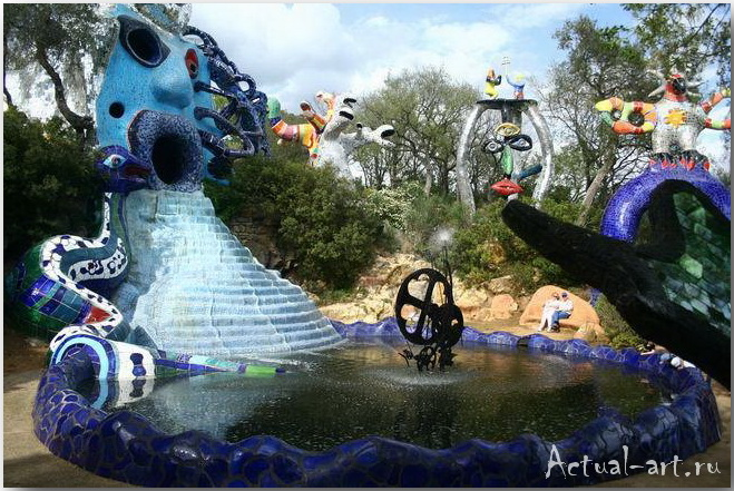 Сад Таро в Тоскане_Ники де Сен-Фалль (Niki de Saint Phalle)_Sculptures_06