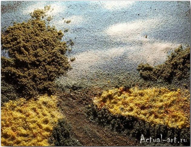 "Salt of the Earth's ""Golden Field""_Келли МакКоллам (Kelly McCollam)_Картины из специй_05"