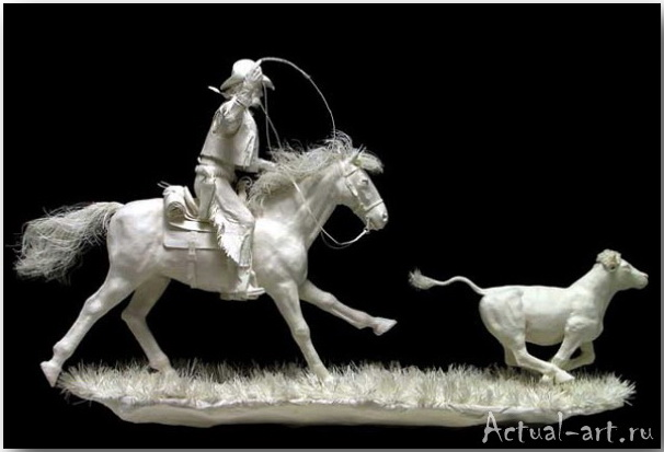 Живые скульптуры из бумаги_Аллен и Пэтти Экман (Allen and Patty Eckman)_sculpture_02