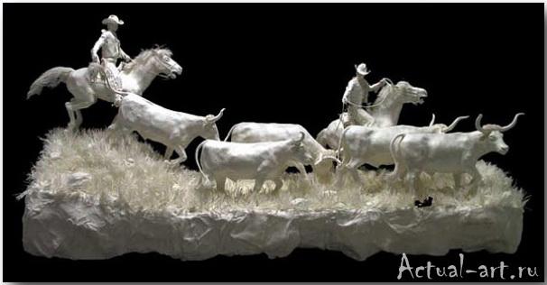Живые скульптуры из бумаги_Аллен и Пэтти Экман (Allen and Patty Eckman)_sculpture_07