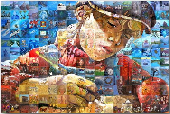 Фрески-мозаики Льюиса Лаво (Lewis Lavoie)_art_06