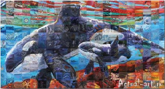 Фрески-мозаики Льюиса Лаво (Lewis Lavoie)_art_08