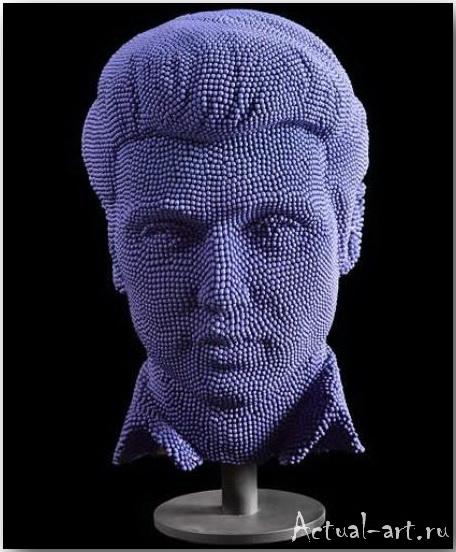 Скульптура Элвис из 50 тыс.спичек_David Mach