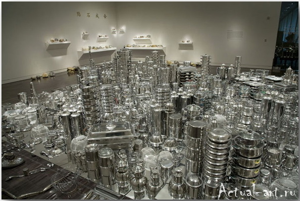 Сан-Франциско из посуды_Скульптор Zhan Wang
