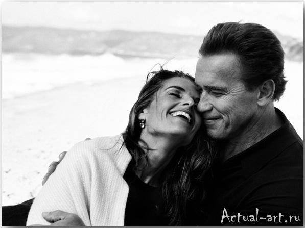 Арнольд Шварценеггер со своей женой Марией Шрайвер__Энни Лейбовиц (Annie Leibovitz)_Photography_06