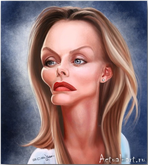 Michelle Pfeiffer__Эд ван дер Линден (Ed van der Linden)_art_06
