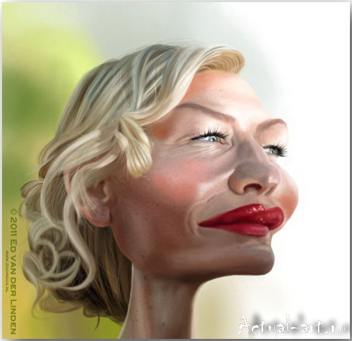 Cate Blanchett__Эд ван дер Линден (Ed van der Linden)_art_24