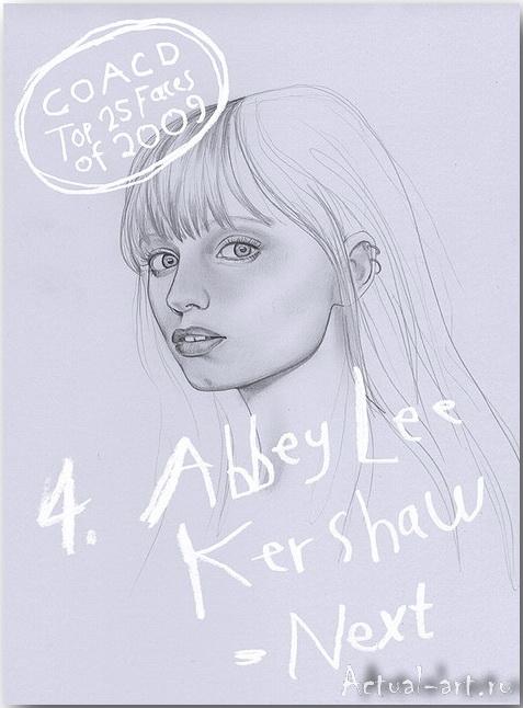 Abbey Lee Kershaw__Дженни Мертселл (Jenny M?rtsell)_art_Живопись_04