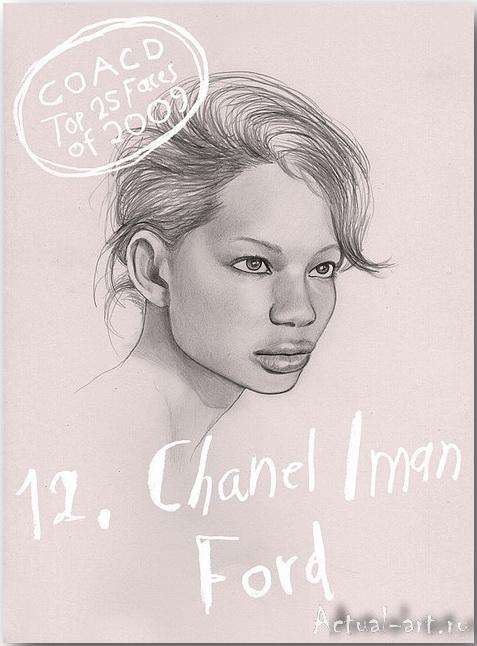 Chanel Iman Ford__Дженни Мертселл (Jenny M?rtsell)_art_Живопись_12